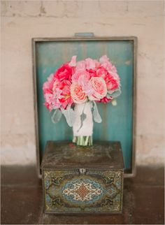 an array of pink roses always does the trick. See more by Elizabeth Messina here. http://www.weddingchicks.com/2012/04/19/wedding-chicks/