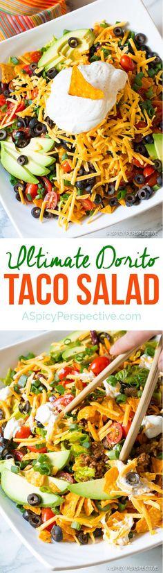 The Ultimate Dorito Taco Salad Recipe | ASpicyPerspective.com