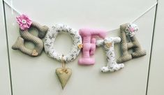 Excited to share this item from my shop: Fabric letters Names Personalized gift Handmade Birthday Gifts, Handmade Gifts, Fabric Letters, Tulip Bouquet, Fabric Combinations, Personalized Gifts, Crochet Earrings, Cotton Fabric, Names