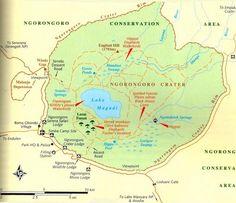 ngorongoro crater map - Google Search faysafaris.com
