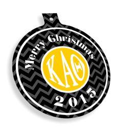 Kappa Alpha Theta Chevron Christmas Ornaments  from GreekGear.com