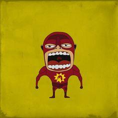 Hilarious Screaming Superheroes - Roberto Salvador