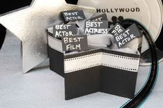 Have your guests cast their votes for their favorite Oscar nominees in this DIY star shaped box. #CouchCritics