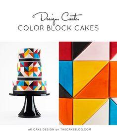 Color Block Cake by AK Cake Design     TheCakeBlog.com