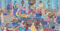 Algeria -El Arbi Ben Sari, Concert Andalusian music at Tlemcen by Bachir Yelles Santa Barbara Library, Culture, Ottoman Empire, Persephone, North Africa, French Artists, Art Pages, Installation Art, Les Oeuvres