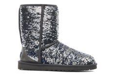 Ugg Australia Classic Short Sparkles  - Stiefeletten & Boots bei Sarenza.de