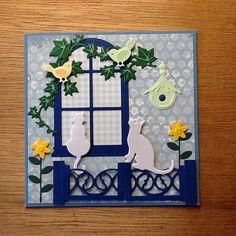 Cat Cards, Bird Cards, Greeting Cards, Christian Cards, Window Cards, Animal Cards, Card Tutorials, Custom Cards, Scrapbook Cards