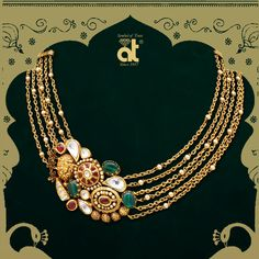 Enchanting designs made with precision and care to suit your royalty. Explore and buy enchanting Gold & Diamond Jewellery by Anopchand Tilokchand Jewellers Antique Jewellery Designs, Gold Jewellery Design, Gold Jewelry, Bridal Jewelry, Antique Jewelry, Diamond Jewellery, Gold Necklaces, Antique Necklace, Diamond Bracelets
