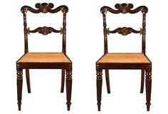 Carved Regency-Style Side Chairs, Pair on OneKingsLane.com