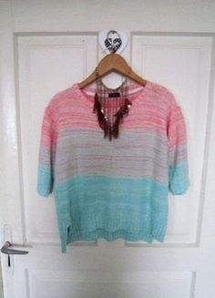 Pastelowy sweterek M 38 L 40 oversize