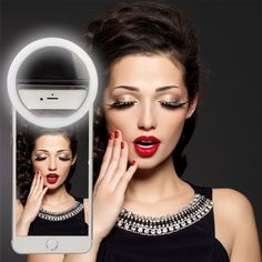 Amazon.com: Ingenious Selfie Ring Light for iPhone 6 plus/6s/6/5s/5/4s/4/Samsung Galaxy S6 Edge/S6/S5/S4/S3, Galaxy Note 5/4/3/2, Sony Xperia, Motorola Droid and Other Smart Phones Lifetime WARRANTY (WHITE 2): Cell Phones & Accessories