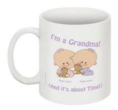Grandma's Twin Baby Girls Customized Mug by 985Designs on Etsy #gift $18.50