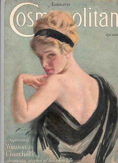 Harrison Fisher vintage-cosmopolitan-magazine-cover