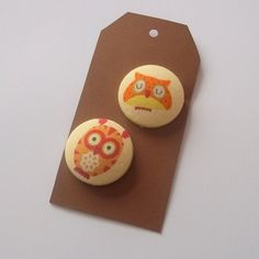 Owl Covered Buttons