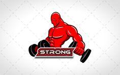 Strong BodyBuilding Logo For Sale #creative #lab #logo #logos #vector #design #animal #animals #website #blog #stock logos for sale logo for sale