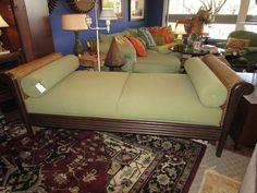 PALECEK Rattan Trimmed Plantation Day Bed or Chaise Lounge #Palecek #Plantation