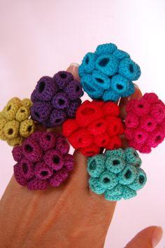 fiber rings #crochet love !!!