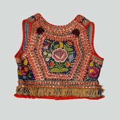 Bodice of the folk costume from Kraków West region, Poland. Textiles, Folk Embroidery, Polish Embroidery, Polish Folk Art, Ethnic Outfits, Handmade Dresses, Folk Costume, Historical Clothing, Colorful Fashion