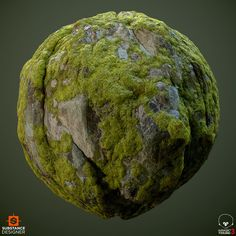 Material study of a mossy granite cliff. Substance designer, rendered in Marmoset. 3d Texture, Stone Texture, Blender 3d, Zbrush, Substance Designer Tutorial, Island Moos, Game Textures, Environment Concept, Environmental Art