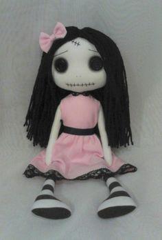 Gothic Art Rag Doll - Amy