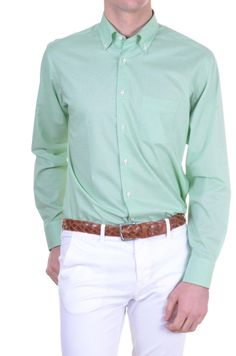 b8c414c5733 Men s Shirt Bagutta - solid - green