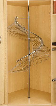 Rev A Shelf 360 176 Spiral Clothes Rack For Closets Chrome My New Room Closet Closet