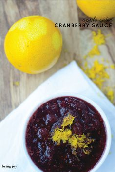cranberry sauce, sweetened with apple cider and coconut sugar