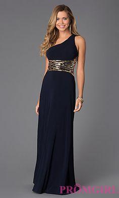 One Shoulder Floor Length Dress at PromGirl.com http://www.promgirl.com/shop/dresses/viewitem-PD1308708