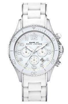 0f6a3288c17c MARC BY MARC JACOBS  Rock  Chronograph Silicone Bracelet Watch