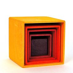 Small Stacking Boxes Yellow  a present