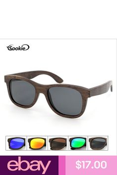 5209815fadb Handmade Brown Bamboo Wood Sunglasses Wooden Polarized Lens Glasses With Box
