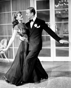 forlovelyritahayworth:    Dancing with Fred Astaire in You Were Never Lovelier, c. 1942.