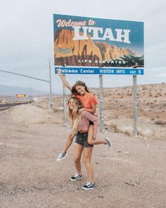 Adventure Awaits in Utah. Who wouldn't be this happy when entering this beautiful state?