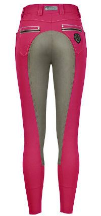 Cavallo Cora Breeches in Raspberry and Grey - SE Sport Horse & Mobile Horse Supply