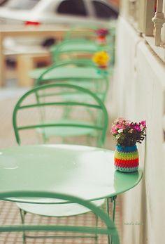 Green tables | by ninasclicks