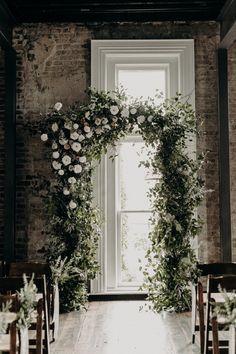 Winter Wedding Arch, Church Wedding Flowers, Wedding Flower Guide, Wedding Ceremony Arch, Ceremony Backdrop, Flower Bouquet Wedding, Floral Wedding, Wedding Arches, Wedding Arch Greenery