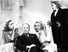 Topper Returns 1941 with Joan Blondell as the ghost, Roland Young, reprising his role for the time, Carole Landis as the would be victim and Billie. Hollywood Icons, Old Hollywood, Classic Hollywood, Roland Young, Funny Scary Movies, Billie Burke, Glinda The Good Witch, Musical Film, Young Love