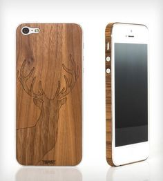 Stag Wood iPhone 4/4S/5 Stick-On Cover by Toast on Scoutmob Shoppe