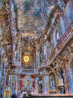 """Asam Church, Munich. This is a very ornate """"over th e top Church, but a must to see."""