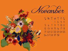 November Desktop Calendar #Free