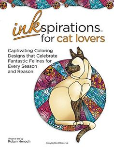 Inkspirations for Cat Lovers: Captivating Coloring Design...