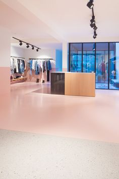 Step by Step boutique by Dialect features a pared-back interior using raw and natural materials Boutique Shop Interior, Boutique Design, A Boutique, Interior Shop, Fashion Retail Interior, Restaurants, Luxury Store, Retail Store Design, Retail Stores
