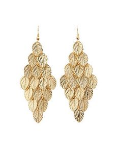 Dangling Leaf Chandelier Earrings: Charlotte Russe
