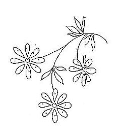 small daisy, embroidery, pattern