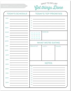 this free printable daily planner changes everything finally a way