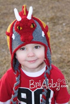 Crochet Dragon Hat Pattern (US TERMS) | Craftsy