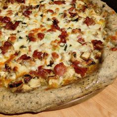 Grilled Chicken Bacon Pizza on Garlic & Herb Dough