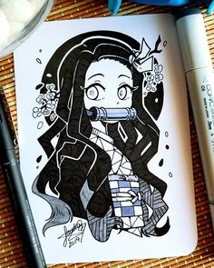 Instagram Anime Drawings Sketches, Anime Sketch, Cartoon Drawings, Amazing Drawings, Cute Drawings, Anime Art Girl, Manga Art, Black And White Art Drawing, Anime Character Drawing