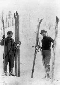 ROSSLAND, BC – We are skiing here for a few days before the start of the annual Winter Carnival. Alpine Skiing, Snow Skiing, Antique Photos, Vintage Photos, Vintage Ski, Vintage Winter, Ski Racing, Ski Posters, Chamonix