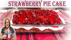 Easy Bake Cake, No Bake Cake, Cake Mix Recipes, Baking Recipes, Cake Mix And Pie Filling Recipe, Party Recipes, Dessert Recipes, Canned Strawberries, Box Cake Mix